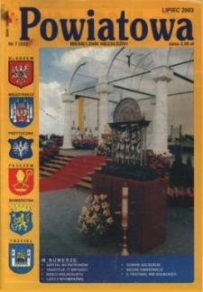 Powiatowa: miesięcznik niezależny, nr 7 (52) (lipiec 2003)