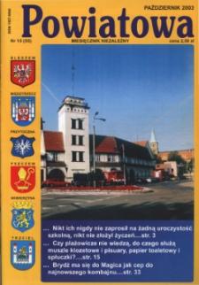 Powiatowa: miesięcznik niezależny, nr 10 (55) (październik 2003)