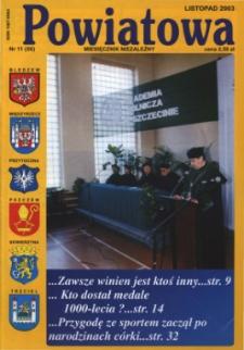 Powiatowa: miesięcznik niezależny, nr 11 (56) (listopad 2003)