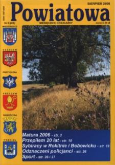 Powiatowa: miesięcznik niezależny, nr 8 (89) (sierpień 2006)