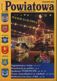 Powiatowa: miesięcznik niezależny, nr 12 (93) (grudzień 2006)