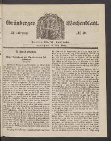Grünberger Wochenblatt, No. 40. (18. Mai 1857)
