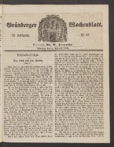 Grünberger Wochenblatt, No. 62. (3. August 1857)