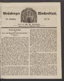 Grünberger Wochenblatt, No. 76. (21. September 1857)