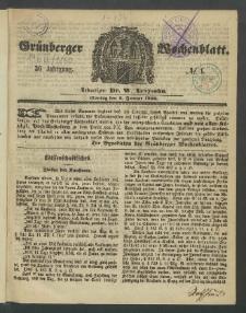 Grünberger Wochenblatt, No. 1. (2. Januar 1860)