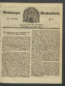Grünberger Wochenblatt, No. 2. (5. Januar 1860)