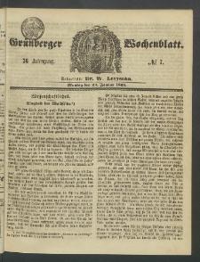 Grünberger Wochenblatt, No. 7. (23. Januar 1860)