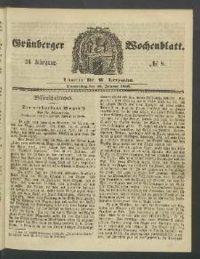Grünberger Wochenblatt, No. 8. (26. Januar 1860)