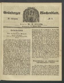 Grünberger Wochenblatt, No. 9. (30. Januar 1860)