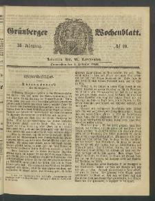 Grünberger Wochenblatt, No. 10. (2. Februar 1860)