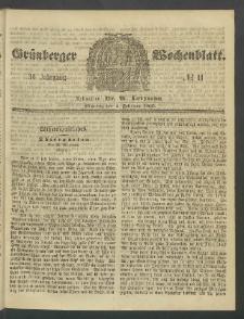 Grünberger Wochenblatt, No. 11. (6. Februar 1860)