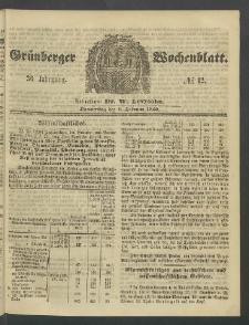 Grünberger Wochenblatt, No. 12. (9. Februar 1860)
