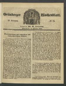 Grünberger Wochenblatt, No. 13. (13. Februar 1860)