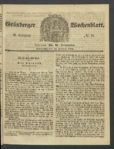 Grünberger Wochenblatt, No. 14. (16. Februar 1860)