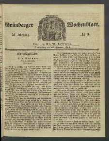 Grünberger Wochenblatt, No. 16. (23. Februar 1860)