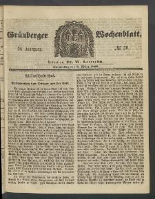 Grünberger Wochenblatt, No. 20. (8. März 1860)