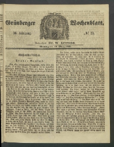 Grünberger Wochenblatt, No. 23. (19. März 1860)