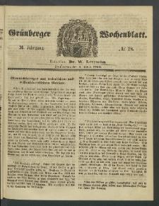 Grünberger Wochenblatt, No. 28. (5. April 1860)