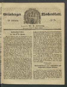 Grünberger Wochenblatt, No. 29. (7. April 1860)