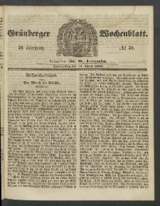 Grünberger Wochenblatt, No. 30. (12. April 1860)