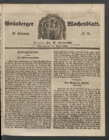 Grünberger Wochenblatt, No. 31. (16. April 1860)