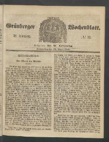 Grünberger Wochenblatt, No. 32. (19. April 1860)
