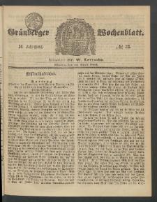 Grünberger Wochenblatt, No. 33. (23. April 1860)