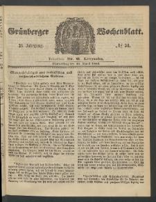 Grünberger Wochenblatt, No. 34. (26. April 1860)