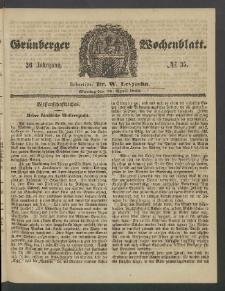Grünberger Wochenblatt, No. 35. (30. April 1860)