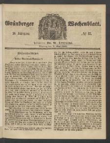 Grünberger Wochenblatt, No. 37. (7. Mai 1860)