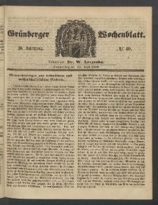 Grünberger Wochenblatt, No. 40. (17. Mai 1860)