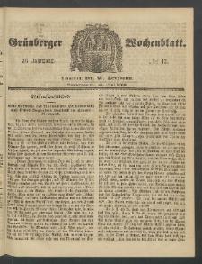 Grünberger Wochenblatt, No. 42. (24. Mai 1860)