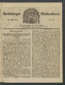 Grünberger Wochenblatt, No. 43. (26. Mai 1860)