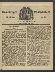Grünberger Wochenblatt, No. 45. (4. Juni 1860)