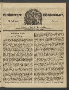 Grünberger Wochenblatt, No. 46. (7. Juni 1860)