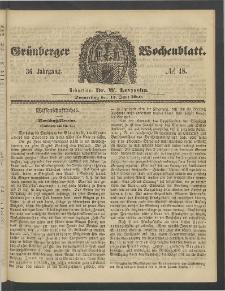 Grünberger Wochenblatt, No. 48. (14. Juni 1860)