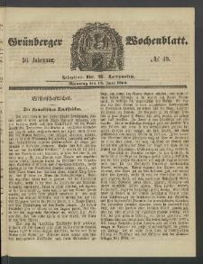 Grünberger Wochenblatt, No. 49. (18. Juni 1860)