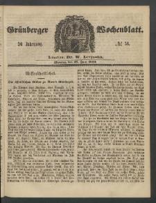 Grünberger Wochenblatt, No. 51. (25. Juni 1860)