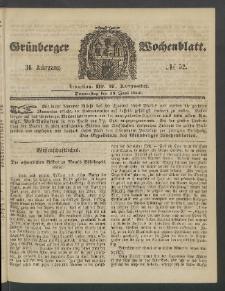 Grünberger Wochenblatt, No. 52. (28. Juni 1860)