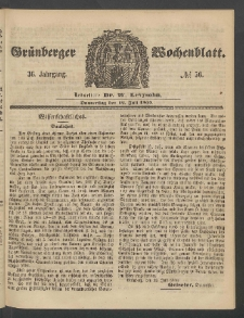 Grünberger Wochenblatt, No. 56. (12. Juli 1860)