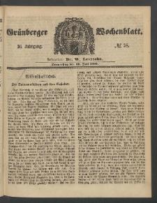 Grünberger Wochenblatt, No. 58. (19. Juli 1860)