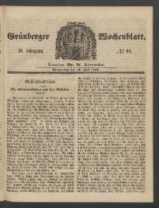 Grünberger Wochenblatt, No. 60. (26. Juli 1860)