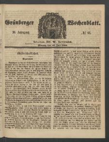 Grünberger Wochenblatt, No. 61. (30. Juli 1860)