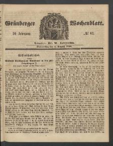 Grünberger Wochenblatt, No. 62. (2. August 1860)