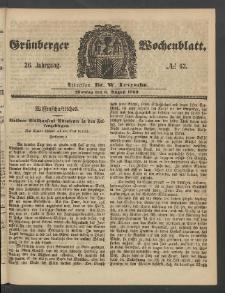 Grünberger Wochenblatt, No. 63. (6. August 1860)
