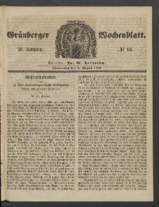Grünberger Wochenblatt, No. 64. (9. August 1860)