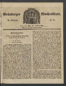 Grünberger Wochenblatt, No. 65. (13. August 1860)