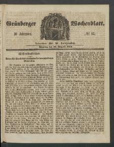 Grünberger Wochenblatt, No. 67. (20. August 1860)