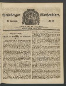 Grünberger Wochenblatt, No. 69. (27. August 1860)