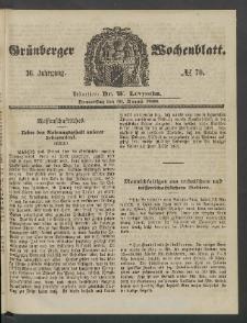 Grünberger Wochenblatt, No. 70. (30. August 1860)